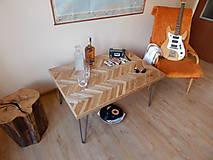 Nábytok - Retro konferenčný stolík (Retro coffee table) (1.) - 8483196_