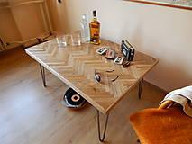 Nábytok - Retro konferenčný stolík (Retro coffee table) (1.) - 8483198_