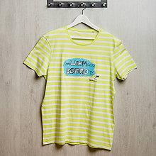 Tričká - Dobrá krajina: Tričko neVIEM čo od DOBROty pásikavé pánske - 8482889_