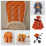 Textil - Bugaboo Seat Liner ORANGE / Podložka do kočíka Pomarančová Elegant prešitie na mieru - 8482412_