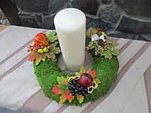 Dekorácie - Jesenný svietnik - 8484380_