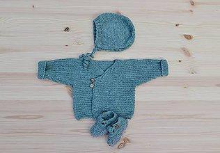 Detské oblečenie - Svetrík pre bábätko organic wool 0 - 3 m - 8483411_
