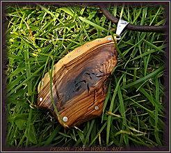 Náhrdelníky - 526. drevený náhrdelník OLIVOVNÍK - Ostrov Lošinj - 8482814_