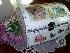 Krabičky - Šperkovnica Vintage kvetinková - 8484027_