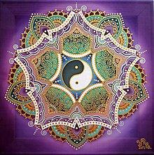 Obrazy - Mandala/ Harmónia môjho stredu a poznania - 8483825_
