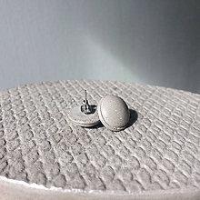 Náušnice - Betónky Gray Spherical Cap - 8482695_