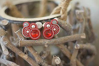 Náušnice - Soutache earrings / Ručne šité šujtášové náušniče - design no. 3 - 8483255_