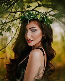 Ozdoby do vlasov - Greenery lesný venček - 8484745_