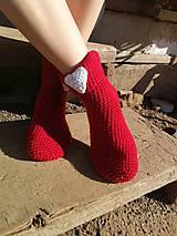 Obuv - Červené ponožky - 8483551_
