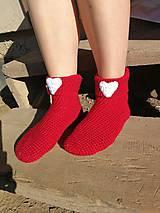 Obuv - Červené ponožky - 8483553_