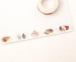 """Papier - WASHI / papierová páska na tvorenie """" zajkovia"""" - 8483407_"""