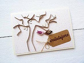 Papiernictvo - svadobná pohľadnica - 8483384_