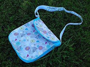 Veľké tašky - Cross Body Bag - vintage - tyrkys - 8485836_