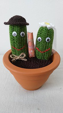 Dekorácie - Novomanželia Kaktusovci - 8486078_
