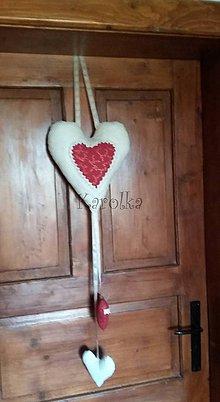 Dekorácie - Srdiečko veľké - Tu býva láska ♥ - 8486438_