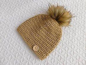 Detské čiapky - ZĽAVA - Háčkovaná s brmbolcom - 8484844_