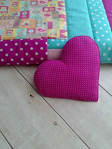 "Úžitkový textil - Vankúš ""srdce"" - 8485553_"