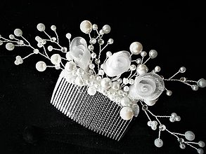Ozdoby do vlasov - Svadobný hrebienok do vlasov - 8484921_