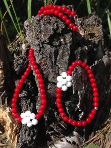 Sady šperkov - Koral a jadeit - sada šperkov - 8486148_