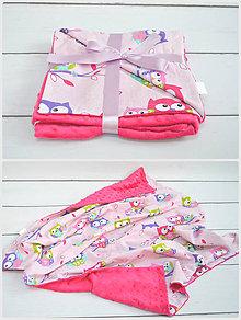 Úžitkový textil - Minky deka v ružovom - 8486730_