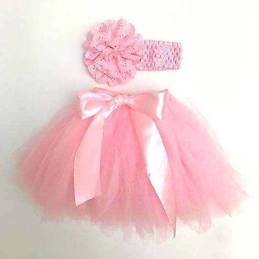 f8b5e5c1532e Tutu suknička viazaná - ružová   Sylvinkovo - SAShE.sk - Handmade ...