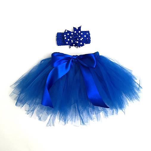 278336079106 Detská tutu suknička s čelenkou - kráľovská modrá   Sylvinkovo ...