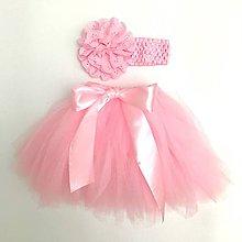 Detské oblečenie - Tutu suknička viazaná - ružová - 8487160_