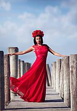 Šaty - Spoločenské šaty z hrubej krajky - 8485008_