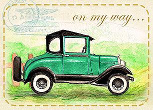 Magnetky - Magnetka - Oldfashion car - 8487355_