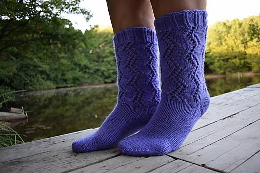 fd2340e46 Fialové ponožky s dierkovaným vzorom (v.38-39) / Eva64 - SAShE.sk ...
