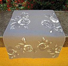 Úžitkový textil - Ruže na šedej - obrus - 8484919_