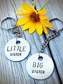 Kľúčenky - LITTLE & BIG sister :) 2mm hrubka pliešku. - 8488184_