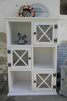 Nábytok - vidiecka vitrínka - 8488066_