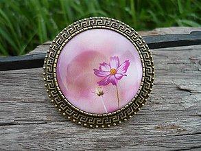 Odznaky/Brošne - Brož Romantická květina - 8489584_