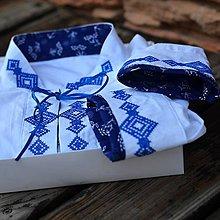 Oblečenie - Modrý krížik - 8489575_