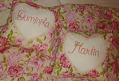 Úžitkový textil - Svadobný dar Obliečky Pivónie s menami - 8488011_