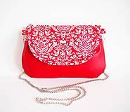 - Červená folk kabelka s retiazkou - 8488430_