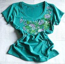 Tričká - Tyrkysové tričko - 8490113_