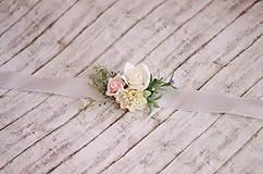 """Náramky - Kvetinový náramok pre družičky """"Rustic"""" - 8489296_"""