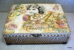 Krabičky - drevená šperkovnica so zrkadlom Create dream - 8490160_