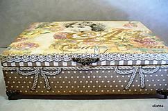 Krabičky - drevená šperkovnica so zrkadlom Create dream - 8490162_