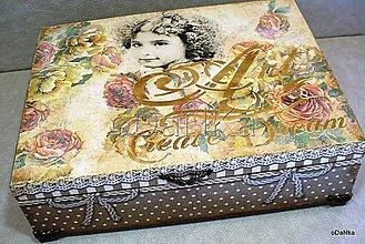 Krabičky - drevená šperkovnica so zrkadlom Create dream - 8490159_