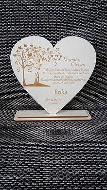 Darčeky pre svadobčanov - Poďakovanie rodičom 4 (hladký okraj) - 8490096_