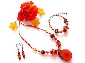 Sady šperkov - Tagua rojo - 8489955_