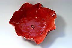 Nádoby - Keramická miska Divý mak - 8487612_