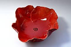 Nádoby - Keramická miska Divý mak - 8487632_