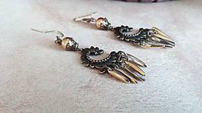 Náušnice - Zlatý drak - 8488432_