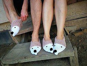 Obuv - Spolu nám to ladí-rodinka ježkov - 8487900_