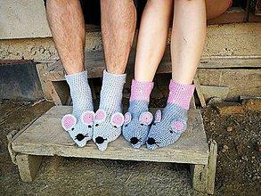 Obuv - Spolu nám to ladí-myškové ponožky - 8487973_