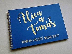 Papiernictvo - Kniha hostí - ručne maľovaná  - 8488607_